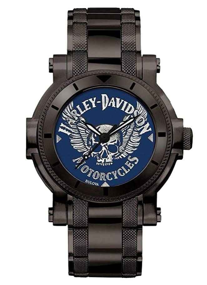 Bulova Harley-Davidson Winged Skull, Brown Watch, American Watch, Luxury Watch