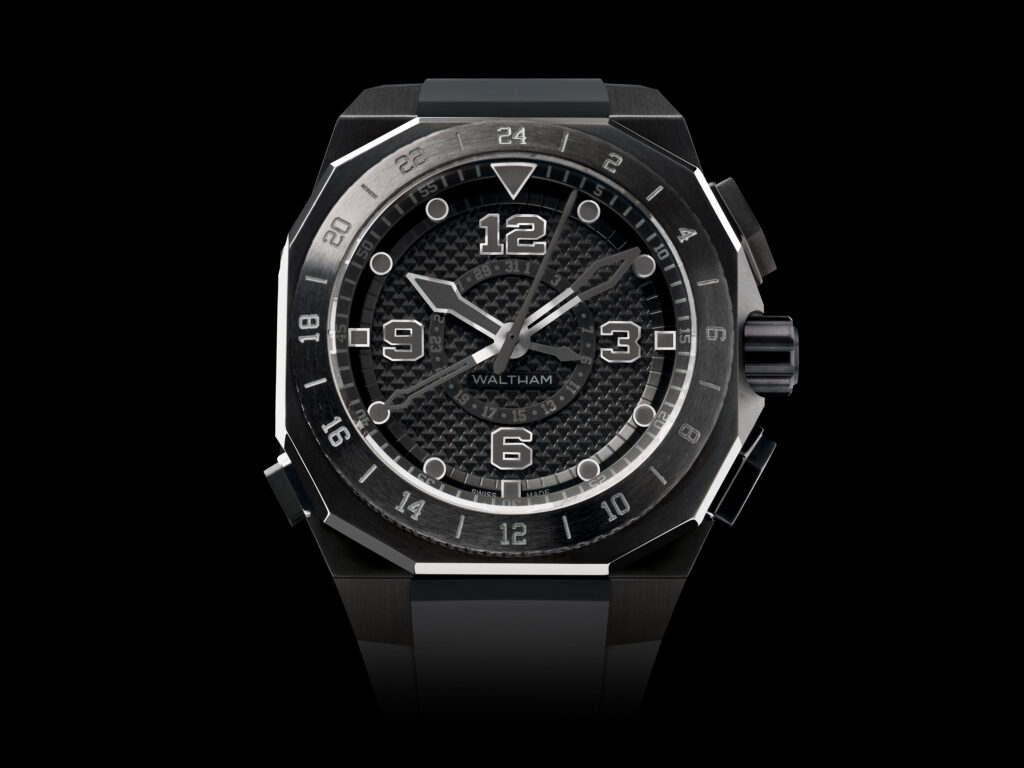 Black Watch, AeroNaval CDI Black Matter Waltham Watch, Aircraft-inspired Watch, Distinct Watch, Analogue Watch