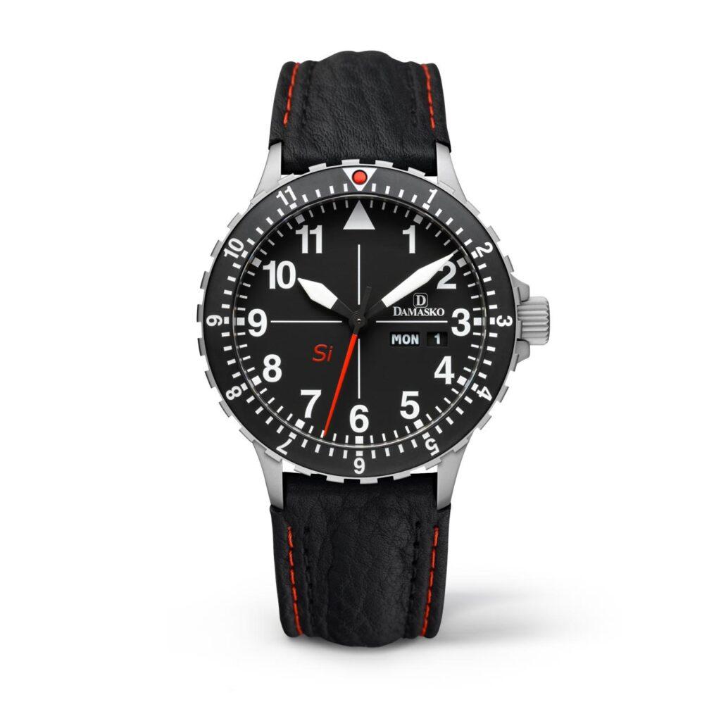 Flieger Watch, Pilot Watch, Black Watch, Automatic Watch, Damasko DK10