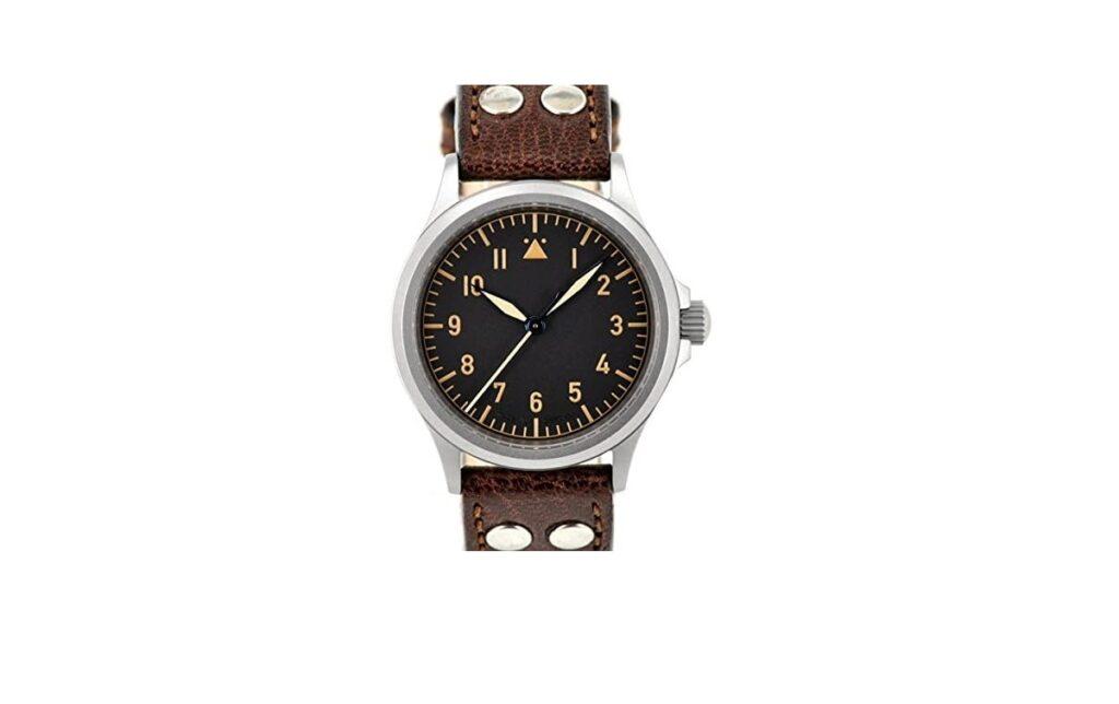 Dievas Vintage Watch, Flieger Watch, Analogue Watch, Leather Watch, Classic Watch