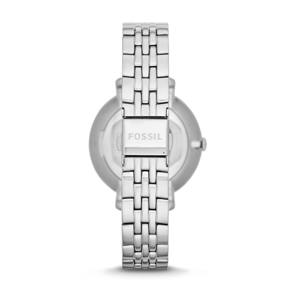 Fossil Jacqueline Stainless Steel Bracelet, Luxury Watch, Silver Watch, Watch Back