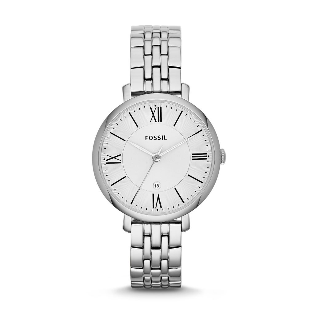 Fossil Jacqueline Stainless Steel Silver Watch, Luxury Watch, Analogue Watch, Stylish Watch