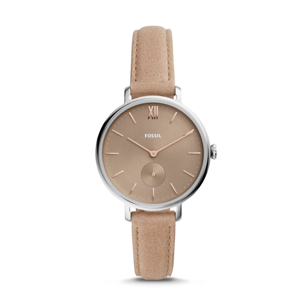 Fossil Kalya Three-Hand Blush Leather Watch, Luxury Watch, Analogue Watch, Brown Watch
