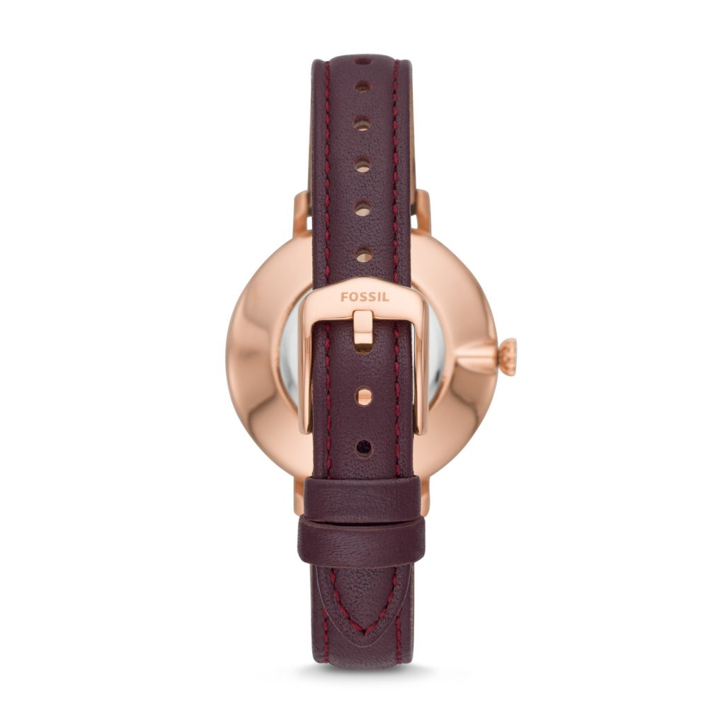 Fossil Kalya Three-Hand Fig Leather Watch, Leather Strap, Luxury Watch, Golden Watch