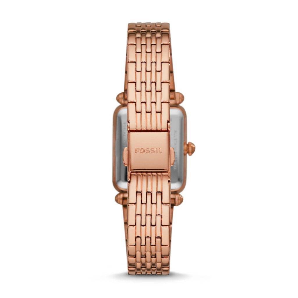 Fossil Lyric Three-hand rose gold tone stainless steel bracelet