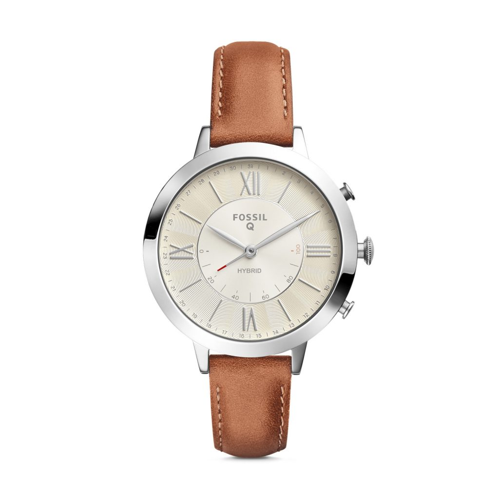 Fossil Hybrid Smartwatch Jacqueline Luggage Leather, Analogue Watch, Luxury Watch, Stylish Watch
