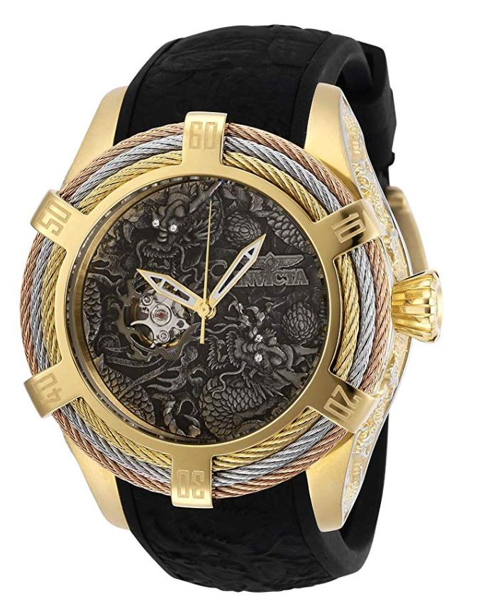 Invicta Watches, Invicta Bolt, Black Watch Strap, Swiss Watch, Wristwatch