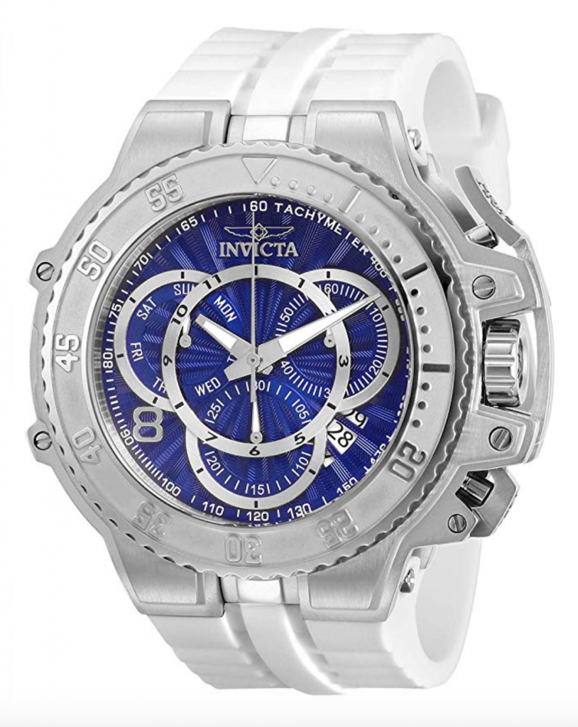 Invicta Watches, Invicta Excursion, White Watch, Swiss Watch, Tachymetre Function