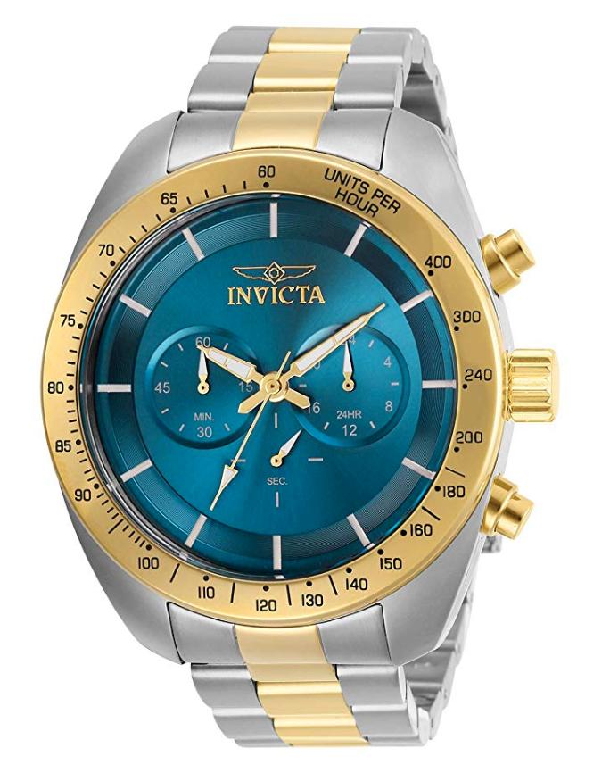 Invicta Watches, Invicta Speedway, Gold Watch Dial, Steel Watch, Wristwatch, Swiss Watch