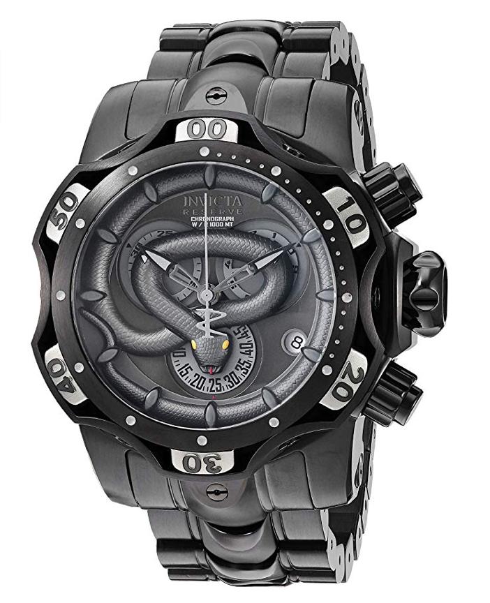 Invicta Watches, Invicta Venom, Black Watch, Wristwatch, Swiss Watch