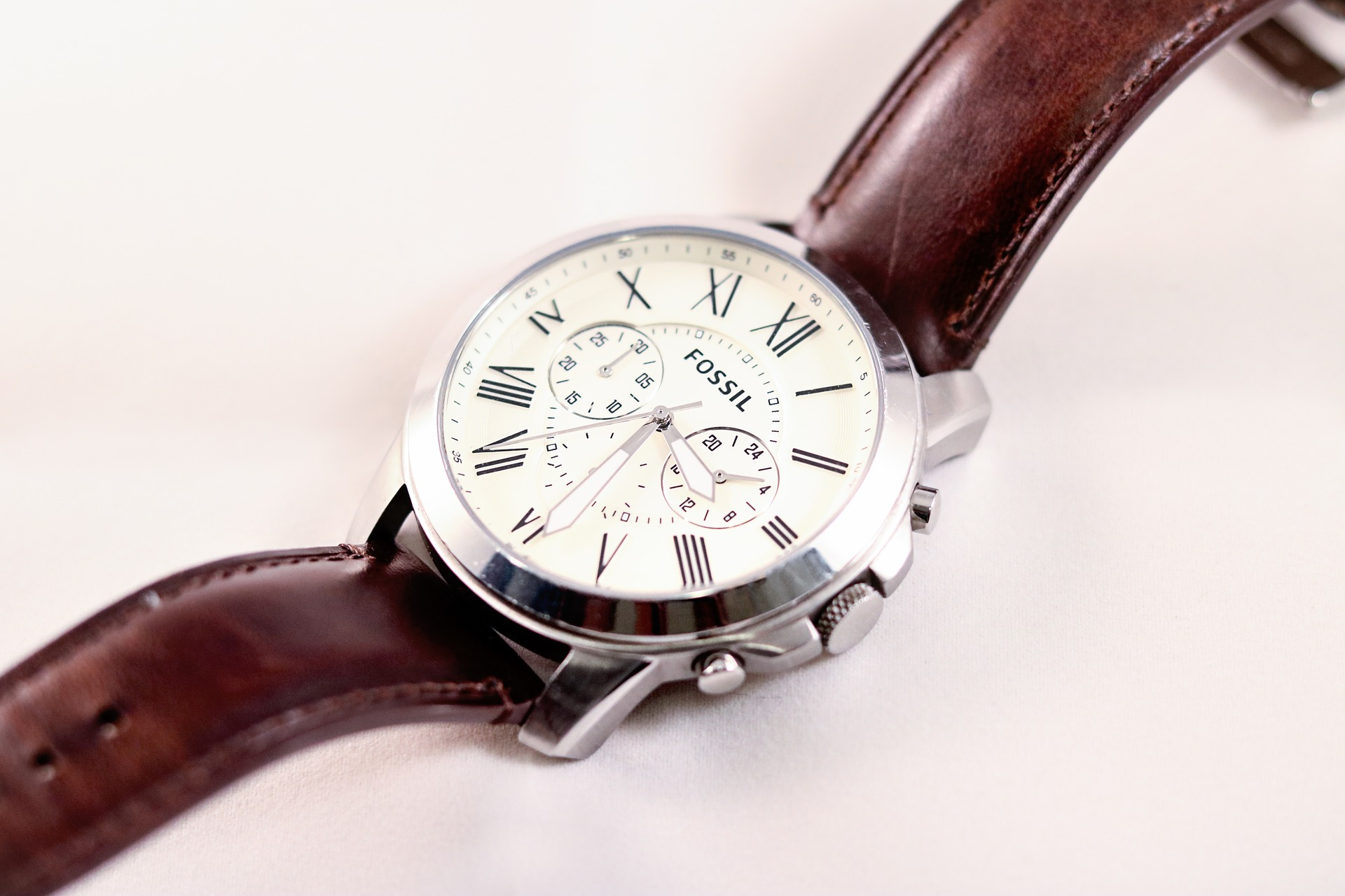 Time Classic Watch Formal Fossil, American Watch, Wristwatch, Luxury Watch, Leather Watch