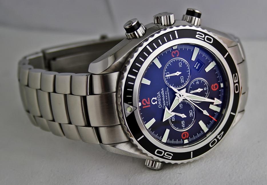 Rotating Bezel, Dive Watch, Blue, Dial, Omega, Watch Face, Steel