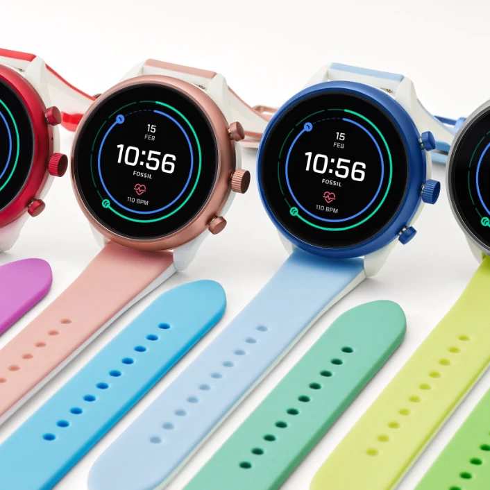Fossil Sport smartwatch interchangeable color watch bands