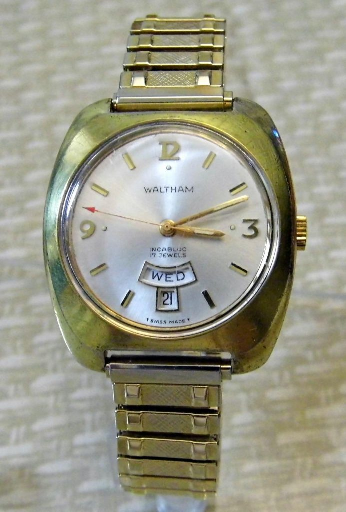 Waltham, Swiss Watch, Swiss Made Watch, Date Display, Gold Watch