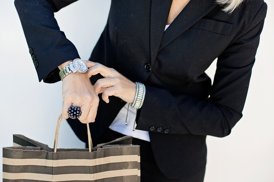 Woman, Luxury Watch, Wristwatch, Convenience, Paperbag, Suit