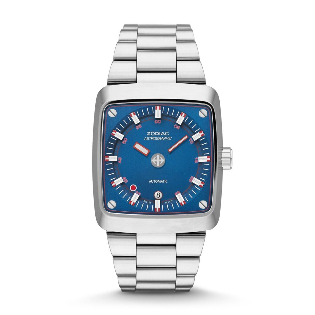 Zodiac Astrographic Watch, High Quality Watch, Automatic Watch, Blue Watch Face