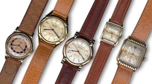 Gruen Watches, Pilot Watches, Aviation Watches, Leather Watches
