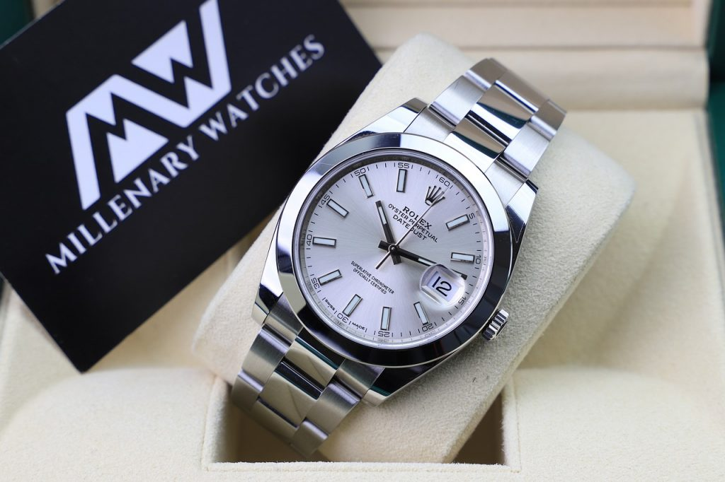 Rolex Oyster, Silver, Steel, Grey, Luxury Watch