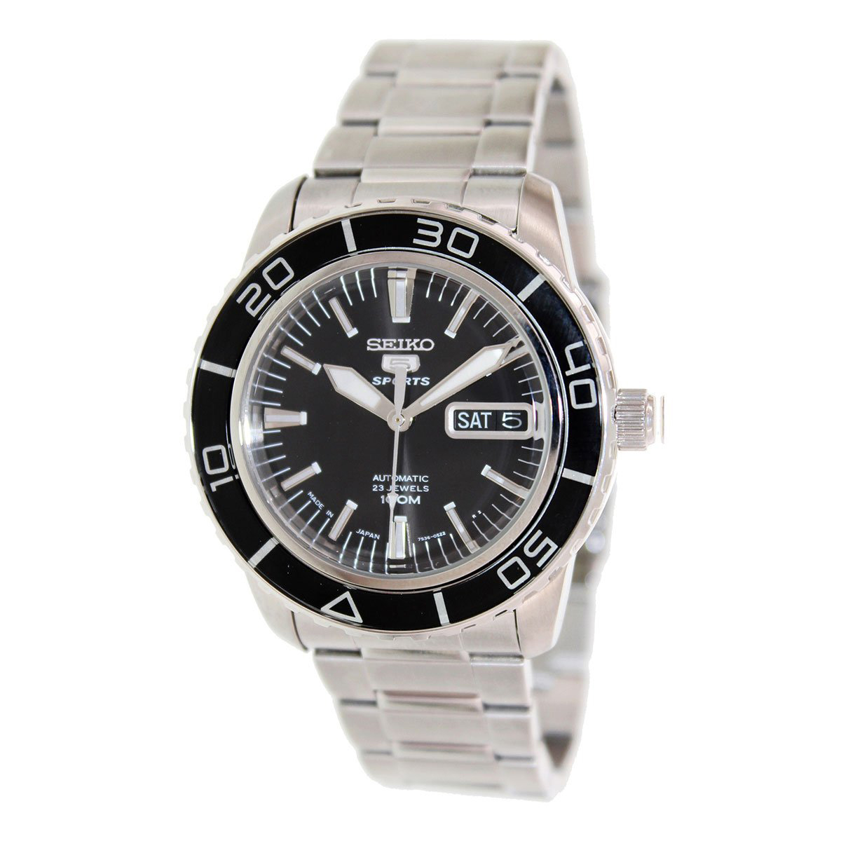 Seiko 5 Sports SNZH55K1, Modern, Durable, Stylish, White, Black Face