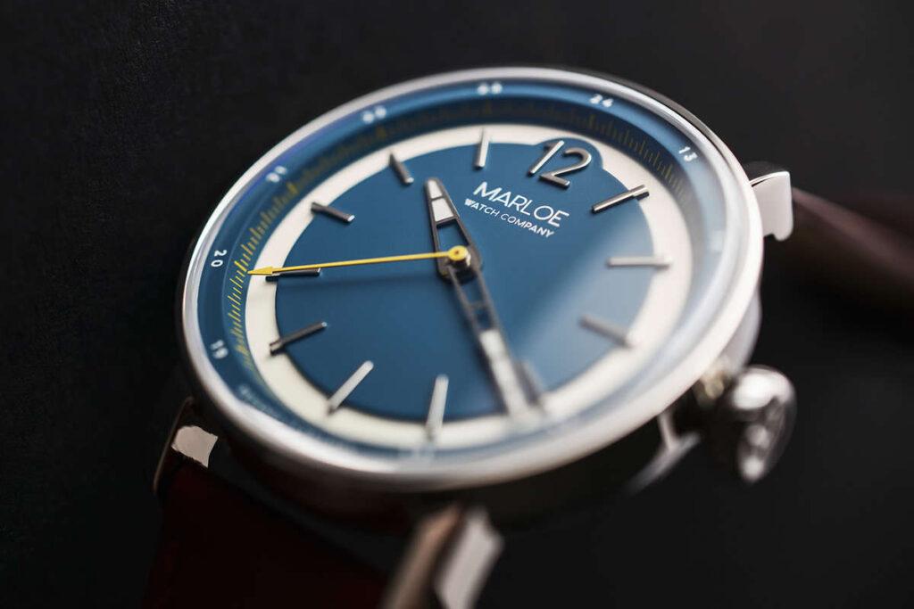 Marloe Watch Company, Modern Watch, Wristwatch, Blue Watch, British Watch