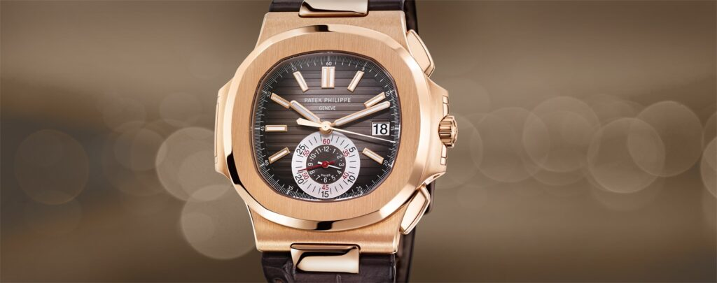 Patek Philippe Nautilus 5980R/001 Chronograph, Modern Watch, Date Display, Swiss Watch, Steel Watch Dial