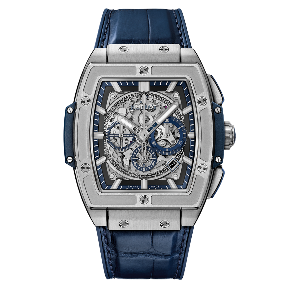 Hublot Spirit of Big Bang Skeleton, Swiss Watch, Leather Watch, Skeleton Watch