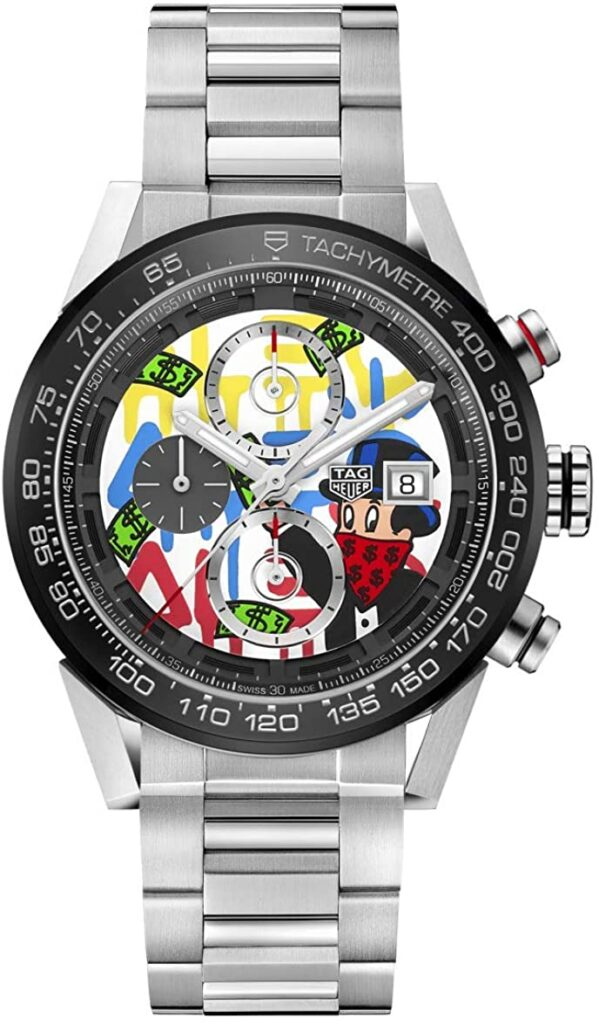 TAG Heuer Carrera Alec Monopoly Special Edition, Steel Watch, Tachymetre Function, Black Watch Dial, Swiss Watch