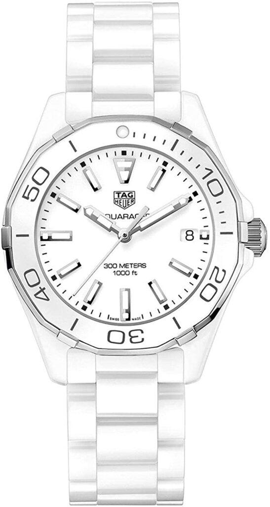 Tag Heuer Aquaracer, White Watch, Date Display, Swiss Watch, Luxury Watch