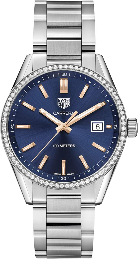 TAG Heuer Carrera Ladies' Quartz Blue Dial, Steel Watch, Date Display, Swiss Watch, Automatic Watch