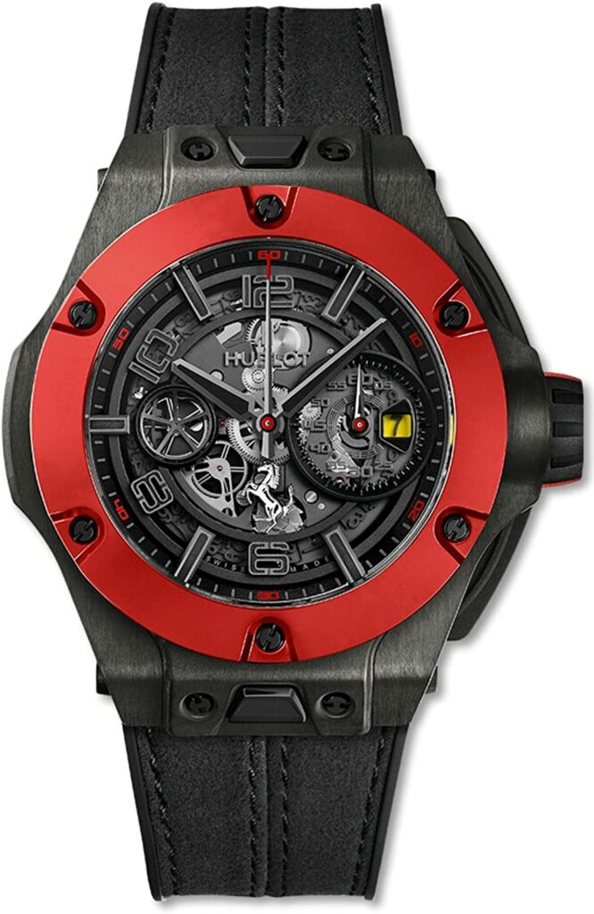 Hublot Big Bang Unico Ferrari, Swiss Watch, Black Watch, Skeleton Watch
