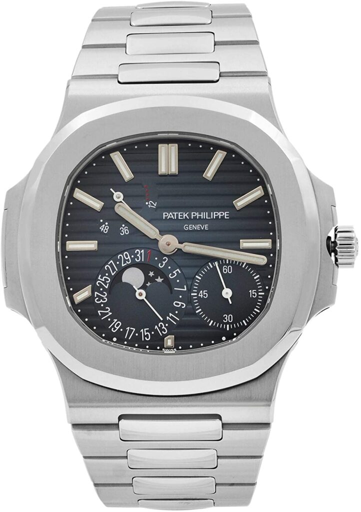 Patek Philippe Nautilus 5712/1A-001 Moon Phase, Steel Watch, Swiss Watch, Silver Watch