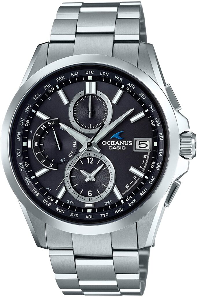 Casio Oceanus Climber Line Smart Access OCW-S100-1AJF, Casio Sports Watches, Steel Watch, Date Display, Modern Watch