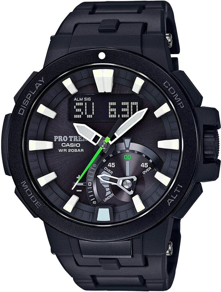 Casio Pro Trek Triple Sensor Tough Solar, Casio Sports Watches, Black Watch, Modern Watch