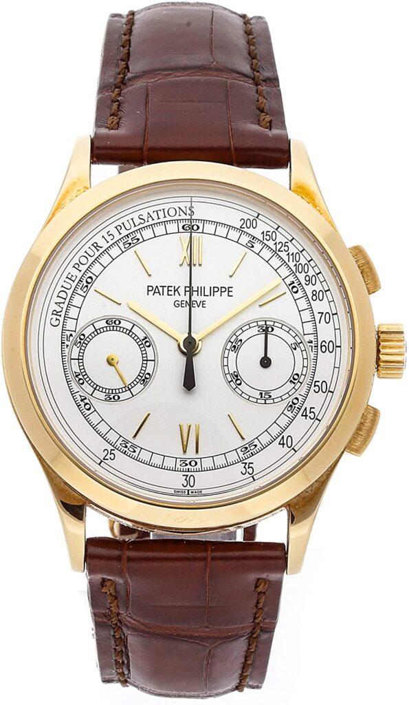 Patek Philippe Complications Chronograph Watch, Leather Watch, Analogue Watch, Swiss Watch