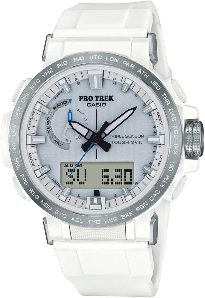 Casio Pro Trek Climber Line PRW-60-7AJF, Casio Sports Watches, Digital Watch, White Watch