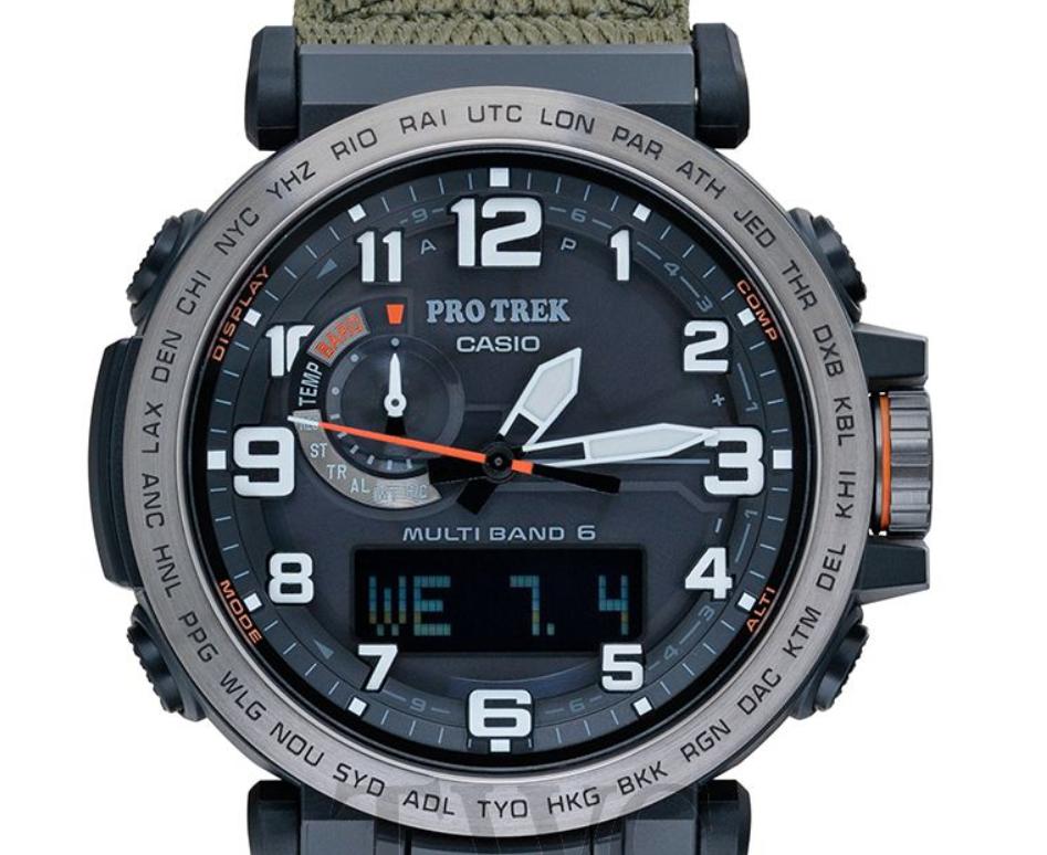 Casio Pro Trek Multiband 6 PRW-6600YB-3JF, Casio Sports Watches, Japanese Watch, Digital Design, Analogue Watch
