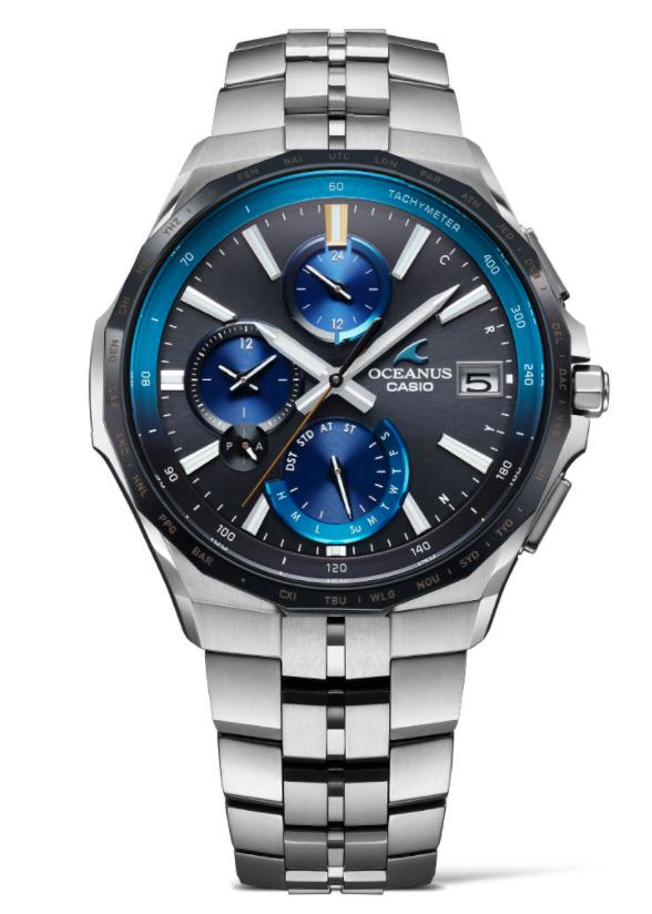 Casio Oceanus Super Slim High-Spec Chronograph, Casio Sports Watches, Steel Watch, Date Display