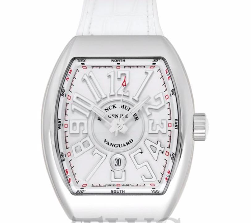 Franck Muller Vanguard Automatic, Luxury Watch, Swiss Watch, Silver Watch Dial