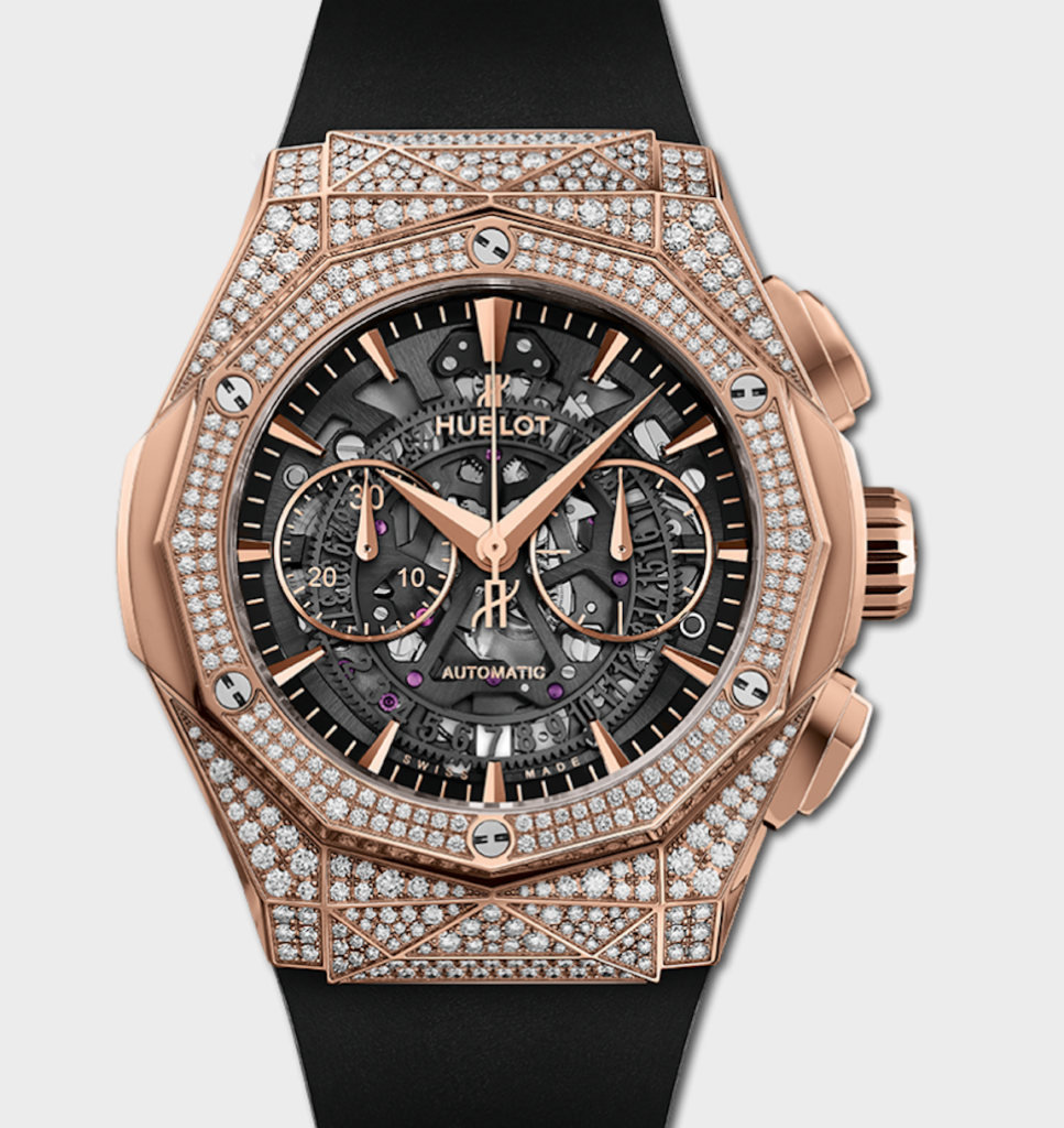Hublot Classic Fusion Aerofusion Chronograph Skeleton, Diamonds Watch, Luxury Watch, Automatic Watch, Swiss Watch