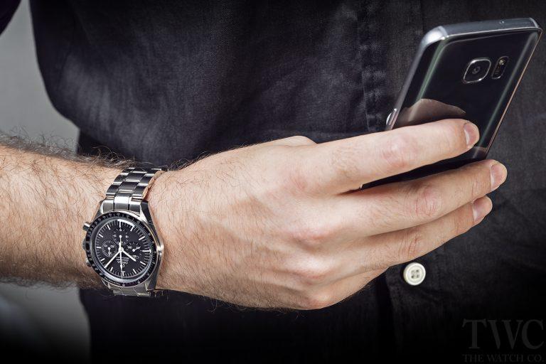 Omega Speedmaster Watch, Analogue Watch, Wristwatch, Modern Watch, Phone