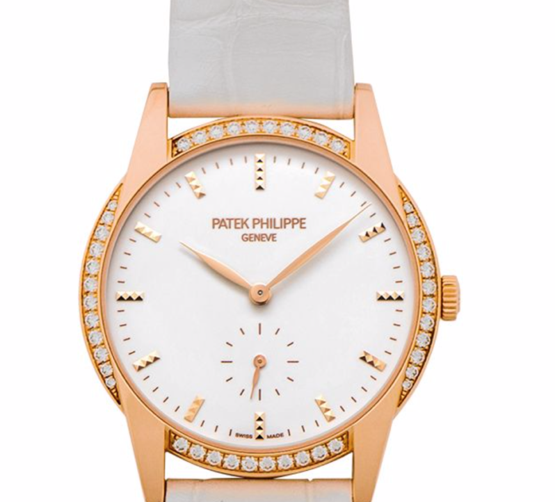 Patek Philippe Calatrava Timeless White, Luxury Watch, Swiss Watch, Diamonds Watch