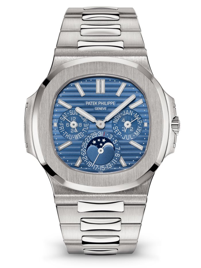 Patek Philippe Nautilus 5740/1G Perpetual Calendar, Steel Watch, Blue Watch Face, Swiss Watch, Modern Watch