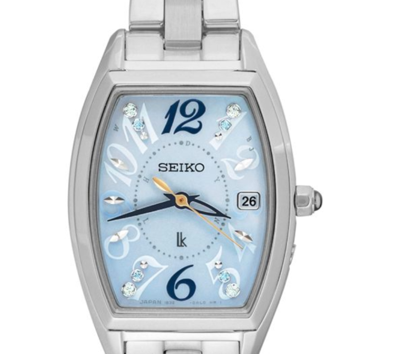 Seiko Lukia Solar Electric Wave SSVW123, Luxury Watch, Elegant Watch, Date Display, Steel Watch