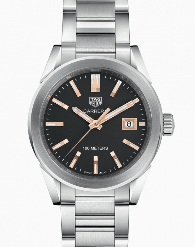TAG Heuer Carrera Ladies' Quartz Black Dial, Steel Watch, Analogue Watch, Date Display, Luxury Watch