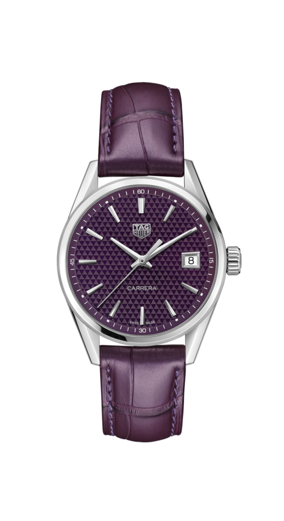 TAG Heuer Carrera Ladies' Quartz Purple Dial, Analogue Watch, Swiss Watch, Leather Watch, Quartz Watch