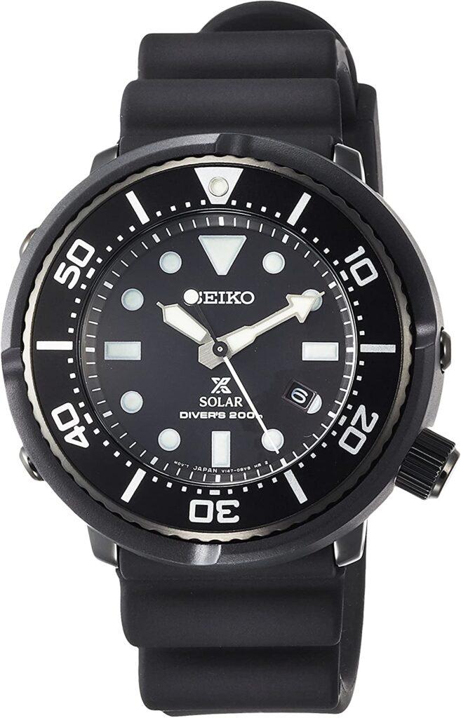 Seiko Prospex SBDN049, Seiko Dive Watch, Black Watch, Solar Watch, Water-resistant Watch