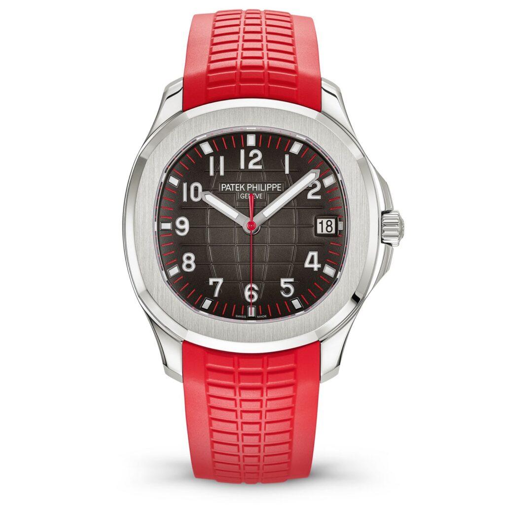 Patek Philippe Aquanaut 5167A, Analogue Watch, Swiss Watch, Red Strap