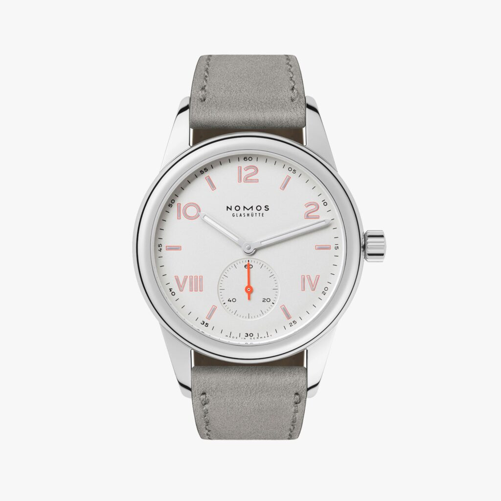 Nomos Club Campus, German Watches, Unique Watch Feature, Gray Watch Strap