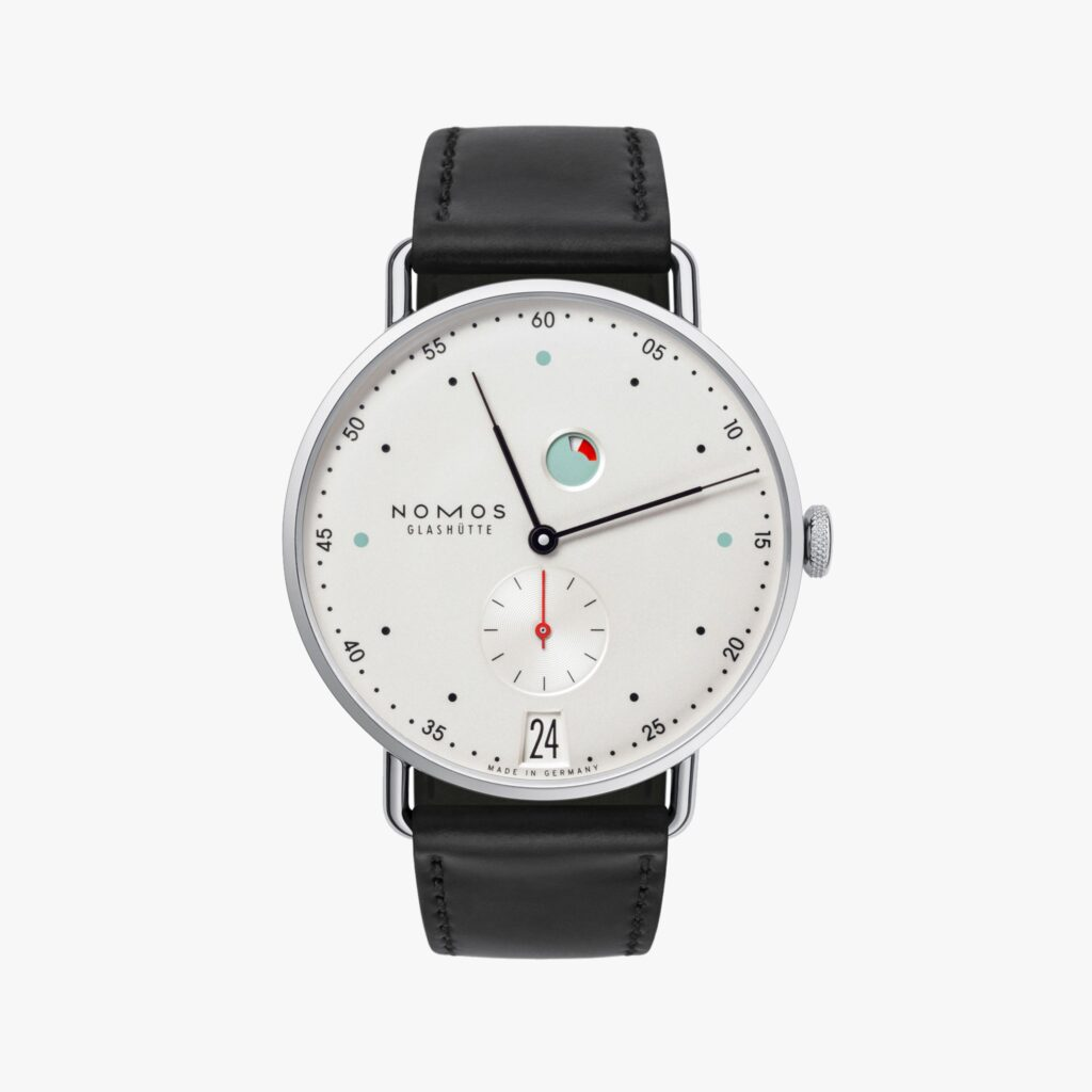 Nomos Metro, German Watches, Leather Watch, Date Display, Minimalist Watch Design