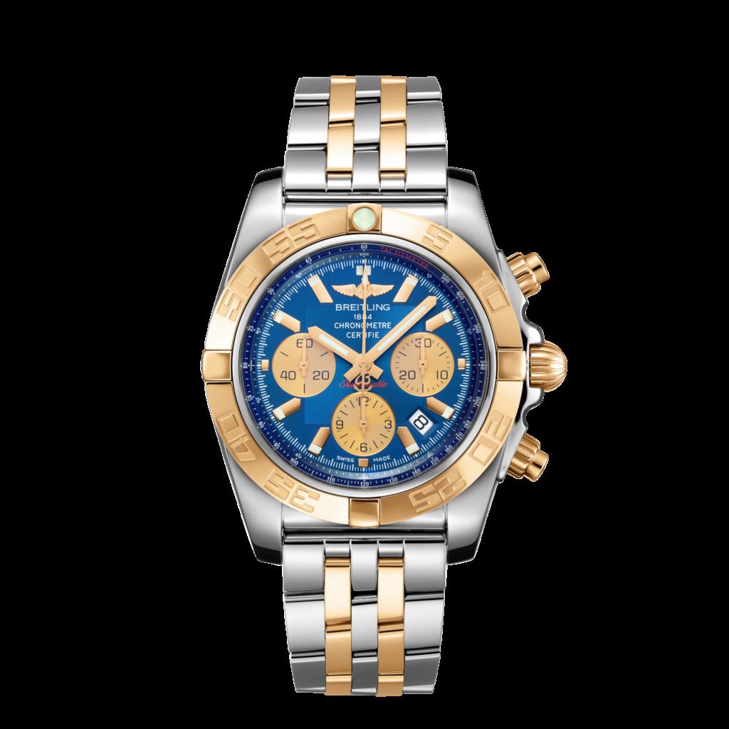 Chronomat 44 - Steel & Gold - Metallica Blue, Breitling Chronomat Watches